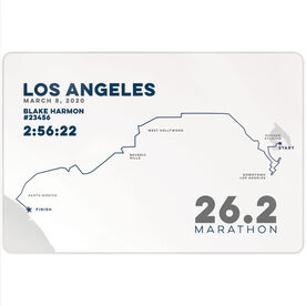 "Running 18"" X 12"" Wall Art - Personalized Los Angeles Map"