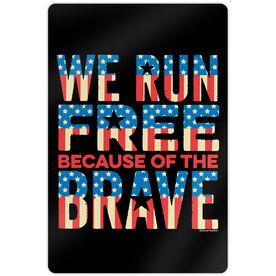 "Running 18"" X 12"" Aluminum Room Sign - We Run Free"