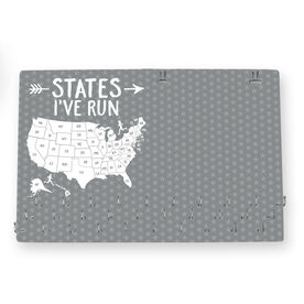Running Large Hooked on Medals and Bib Hanger - States I've Run