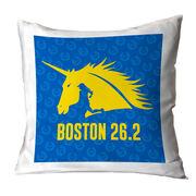 Running Decorative Pillow - Run with Unicorns