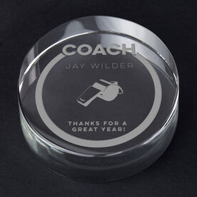 General Sports Personalized Engraved Crystal Gift - Coach Whistle