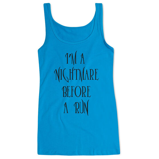 Running Women's Athletic Tank Top - I'm A Nightmare Before A Run