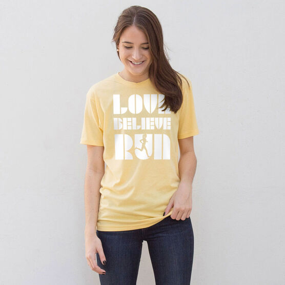 Running Short Sleeve T-Shirt - Love Believe Run