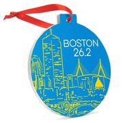 Running Round Ceramic Ornament - Boston Twenty Six Point Two