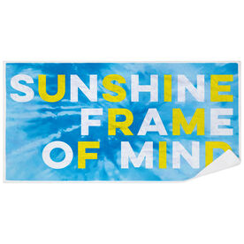 Premium Beach Towel - Sunshine Frame of Mind