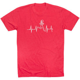 Running Short Sleeve T-Shirt - Heart Beat Female Runner