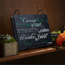BibFOLIO® Race Bib Album - Chalkboard Courage To Start