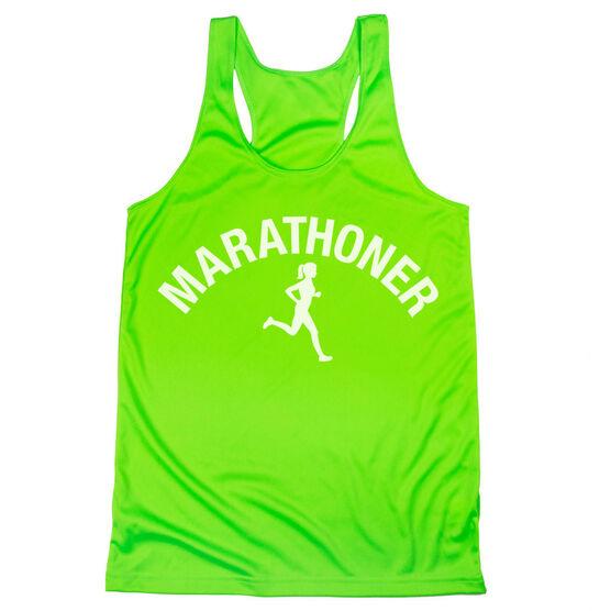 Women's Racerback Performance Tank Top - Marathoner Girl