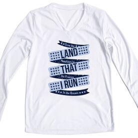 Women's Long Sleeve Tech Tee - Land That I Run