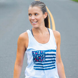 Women's Performance Tank Top - United States of Runners Tie-Dye