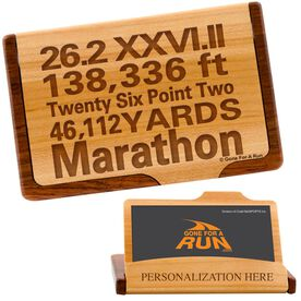Marathon Math Maple Business Card/Credit Card Holder