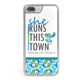 Running iPhone® Case - She Runs This Town Stacked
