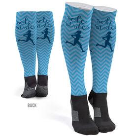 Running Printed Knee-High Socks - Sole Sister