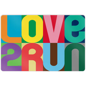 "Running 18"" X 12"" Aluminum Room Sign - Love 2 Run (Color)"