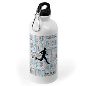Running 20 oz. Stainless Steel Water Bottle - Inspirational Words Male