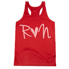 Women's Racerback Performance Tank Top - Run Heart