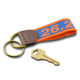 26.2 Marathon Runners Key Fob (Blue/Orange)