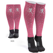 Running Printed Knee-High Socks - Pixie Dust
