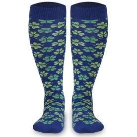 Woven Yakety Yak! Knee High Socks - Shamrocks