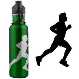 Running Guy Silhouette 24 oz Stainless Steel Water Bottle