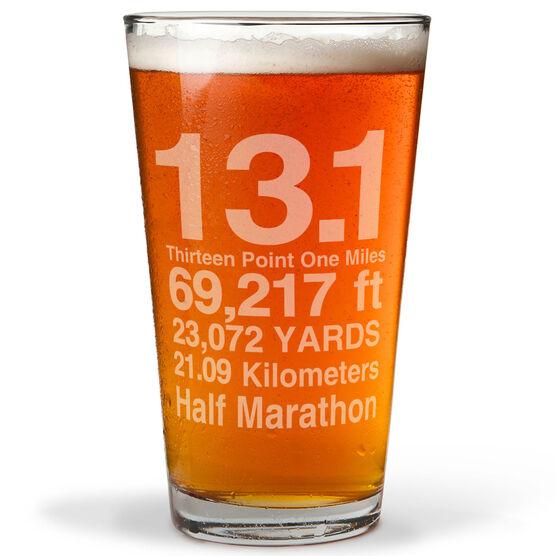 13.1 Math Miles 16 oz Beer Pint Glass