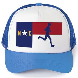 Running Trucker Hat - North Carolina Flag Male Runner