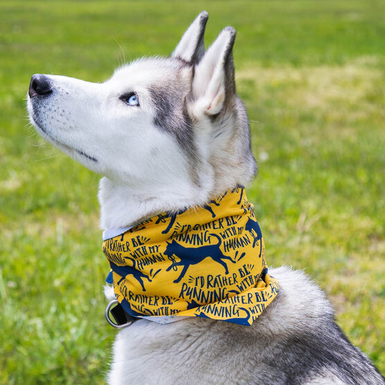 Running Dog Bandana - I'd Rather Be Running With My Human