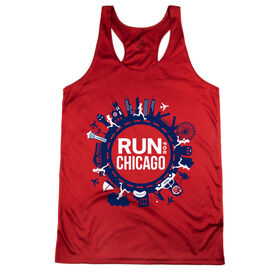 Women's Racerback Performance Tank Top - Run For Chicago