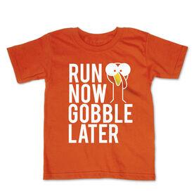 Running Toddler Short Sleeve Tee - Run Now Gobble Later (Bold)