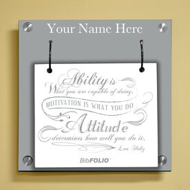 Personalized Ability Is What You Are Capable Of Doing Wall BibFOLIO® Display