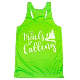 Women's Racerback Performance Tank Top - The Trails Are Calling