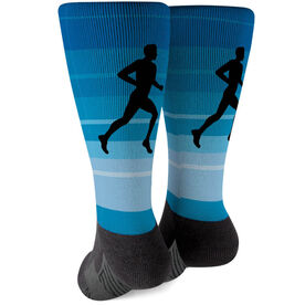 Running Printed Mid-Calf Socks - Runner Guy