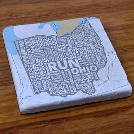 Ohio State Runner Stone Coaster