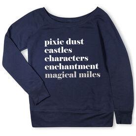 Running Fleece Wide Neck Sweatshirt - Run Mantra Magical