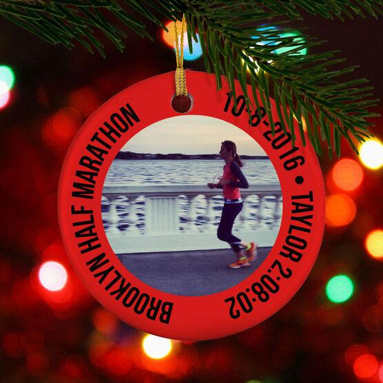 Running Porcelain Ornament Custom Running Photo