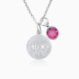 Livia Collection Sterling Silver Matte 10K Necklace