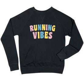 Running Raglan Crew Neck Sweatshirt - Running Vibes
