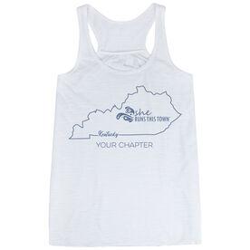 Flowy Racerback Tank Top - She Runs This Town Kentucky Runner