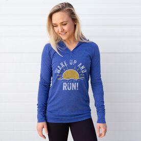 Women's Running Lightweight Performance Hoodie - Wake Up And Run