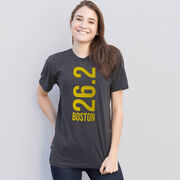 Running Short Sleeve T-Shirt - Boston 26.2 Vertical