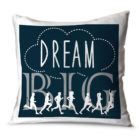 Running Throw Pillow Vintage Dream Big