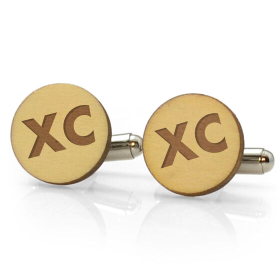 Track and Field Engraved Wood Cufflinks XC
