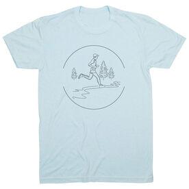 Vintage Running T-Shirt - Trail Runner Sketch