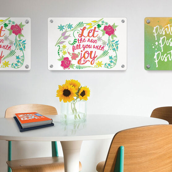 "Running 18"" X 12"" Wall Art - Let The Run Fill You With Joy"