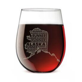 Stemless Wine Glass Alaska State Runner
