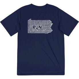 Men's Running Short Sleeve Tech Tee - Pennsylvania State Runner