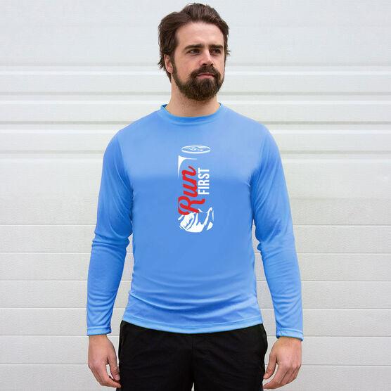 Men's Running Long Sleeve Tech Tee - Run First Can