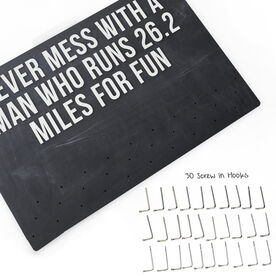 Running Large Hooked on Medals Hanger - Customize Me Quote