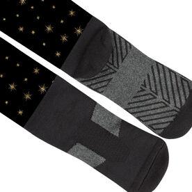 Running Printed Knee-High Socks - Pixie Dust