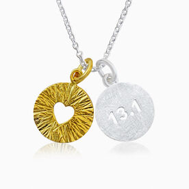 Livia Collection Sterling Silver and 14K Gold Vermeil Half Marathon Triumph Necklace